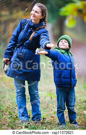 automne, parc, famille - csp11372621