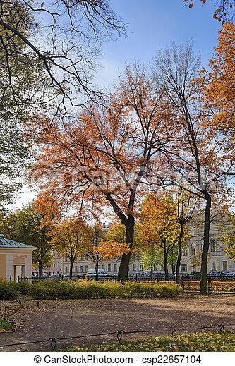 automne, parc, jour ensoleillé - csp22657104