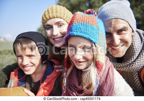 automne, portrait, famille - csp45001174