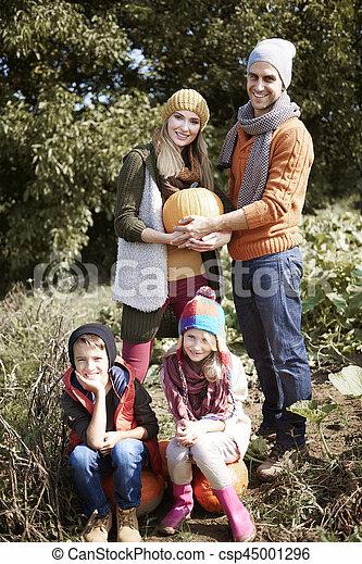 automne, portrait, jour, famille - csp45001296