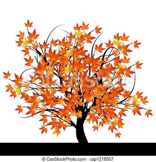 Automne r sum arbre feuilles r sum arbre illustration automne vecteur feuilles - Arbre automne dessin ...