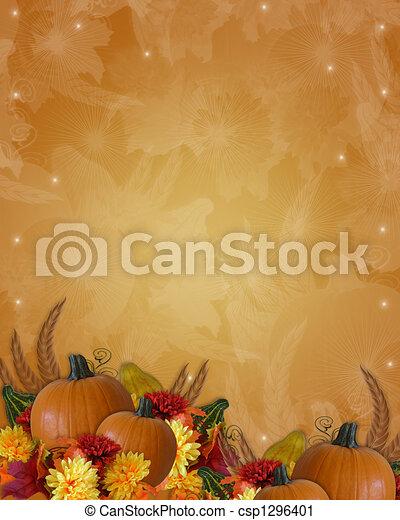 automne, thanksgiving, fond, automne - csp1296401