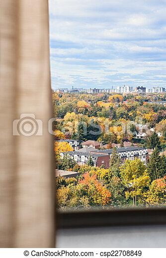 automne, vue, fenêtre - csp22708849