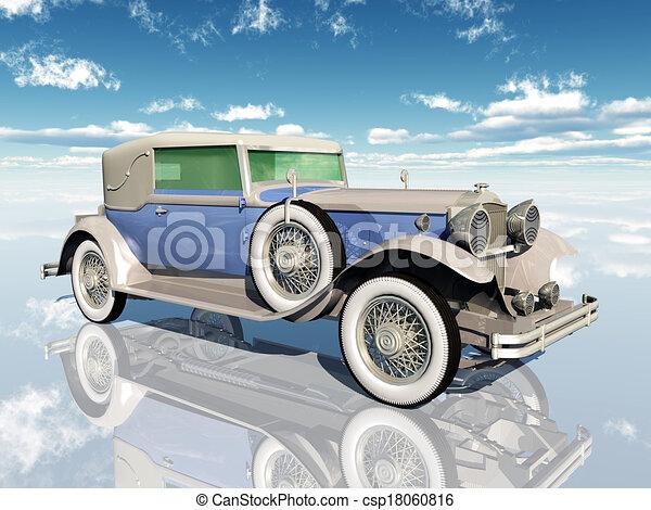 automobil, amerikaner - csp18060816