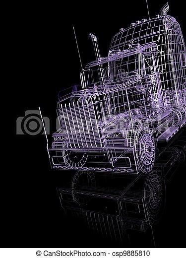 automobile, 3d - csp9885810