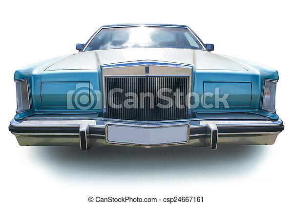 automobile, americano, antico, isolato - csp24667161