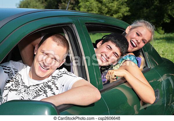 automobile, amici - csp2606648