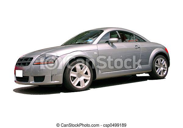 automobile, argento, sport - csp0499189