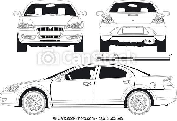 automobile, brutta copia - csp13683699