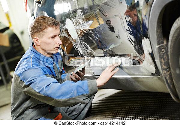 automobile car body paint check - csp14214142