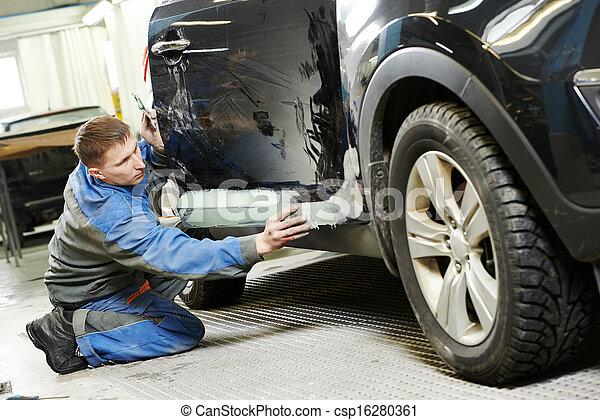automobile car body stopping - csp16280361