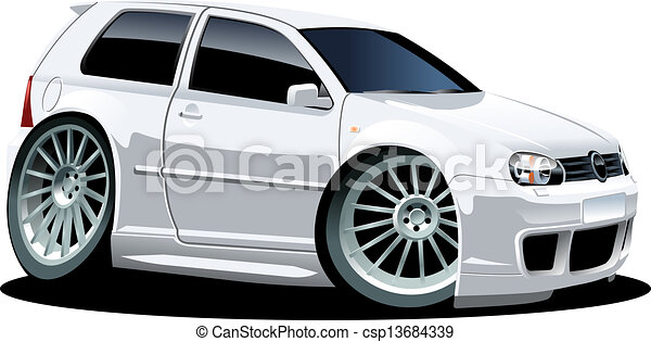 automobile, cartone animato - csp13684339