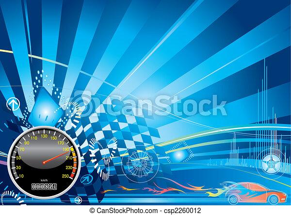 automobile, concetto, da corsa - csp2260012