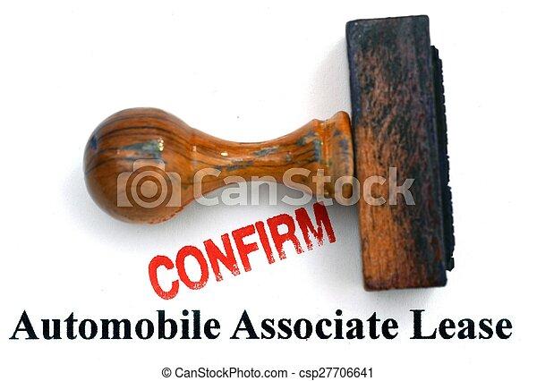 automobile, contratto affitto - csp27706641