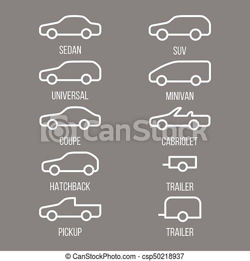 automobile, differente, tipi, body. - csp50218937