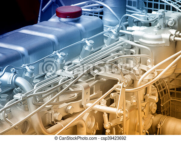 Automobile engine detail - csp39423692