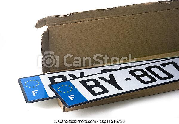 automobile, enregistrement - csp11516738