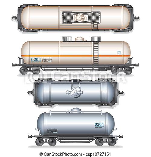 automobile, ferrovia, serbatoio - csp10727151