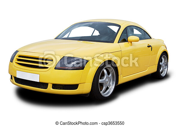 automobile, giallo, sport - csp3653550