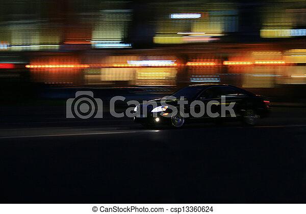 automobile, guidando veloce - csp13360624