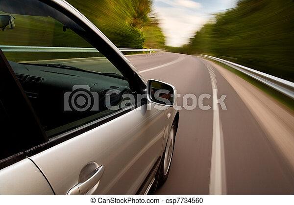 automobile, guidando veloce - csp7734560