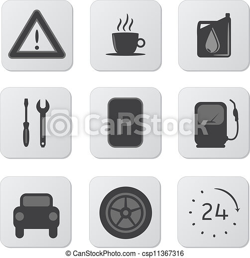 Automobile Icons - csp11367316