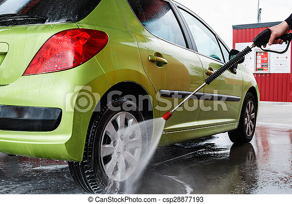 Automobile in the car wash - csp28877193