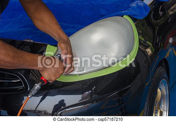 automobile, lampada, lucidato - csp57187210