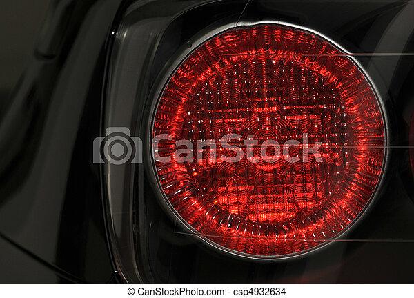 automobile, lampada, primo piano - csp4932634