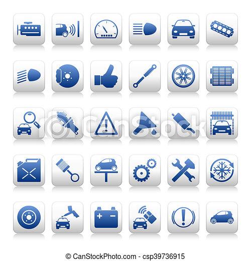 Automobile maintenance icons - csp39736915