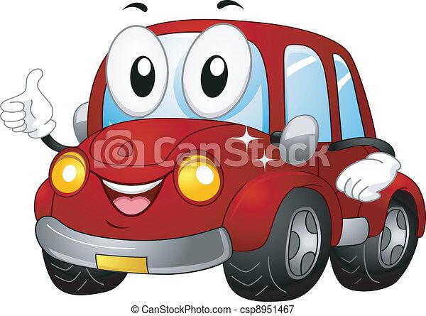 automobile, mascotte - csp8951467