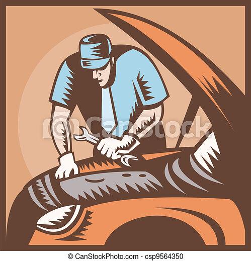 Automobile Mechanic Car Repair - csp9564350