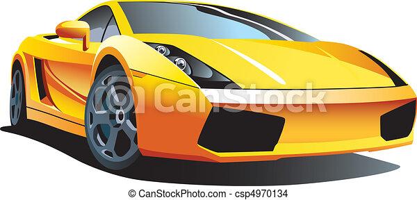 automobile, moderno, sport - csp4970134