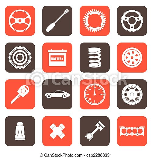 Automobile parts related icons - csp22888331