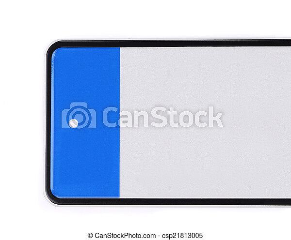 automobile, plaque., nombre - csp21813005