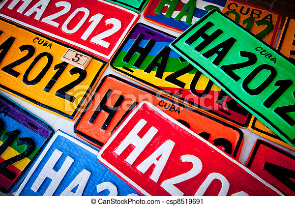 automobile, plaques - csp8519691