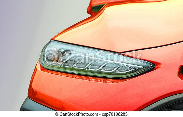 automobile, primo piano, colpo, faro - csp70108285