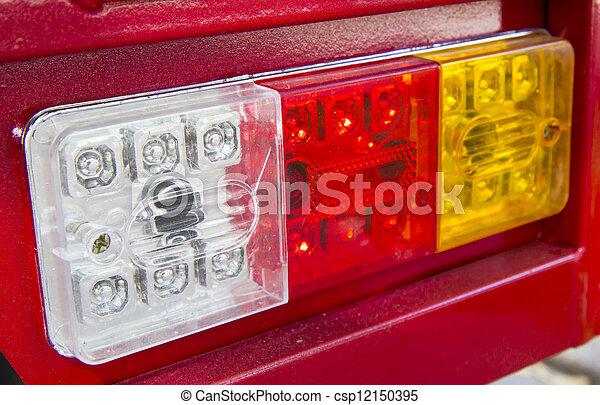 automobile, primo piano, lampada - csp12150395