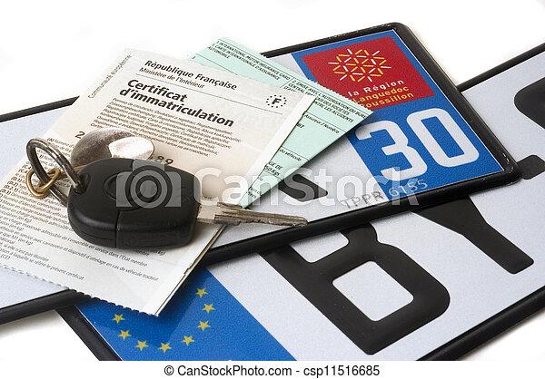 automobile registration - csp11516685