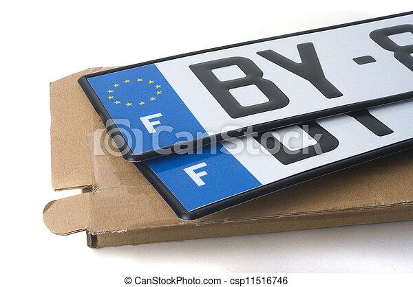 automobile registration - csp11516746