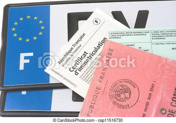 automobile registration - csp11516730