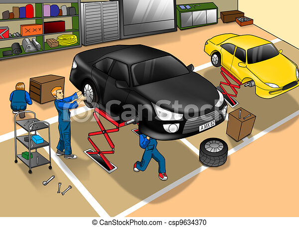 Automobile Repair Shop - csp9634370