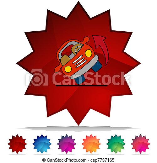 Automobile Rolling Over Shiny Button Set - csp7737165
