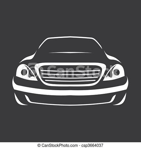 automobile, simbolo - csp3664037