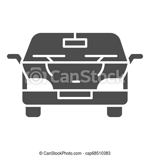 Automobile solid icon. Car vector illustration isolated on white. Vehicle glyph style design, designed for web and app. Eps 10. - csp68510383