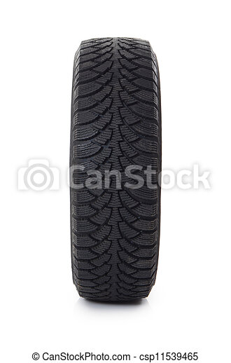 Automobile tire isolated on white background - csp11539465
