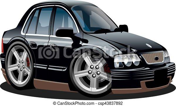 automobile, vettore, cartone animato - csp43837892