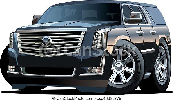 automobile, vettore, cartone animato - csp48625779