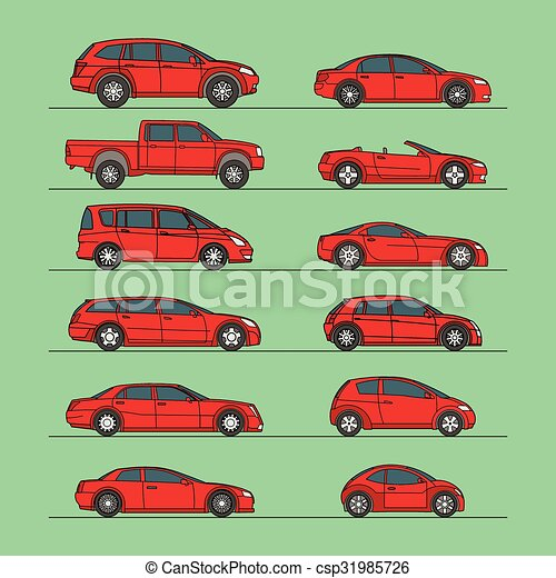 automobile, vettore, set, icona - csp31985726