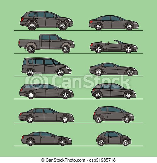 automobile, vettore, set, icona - csp31985718